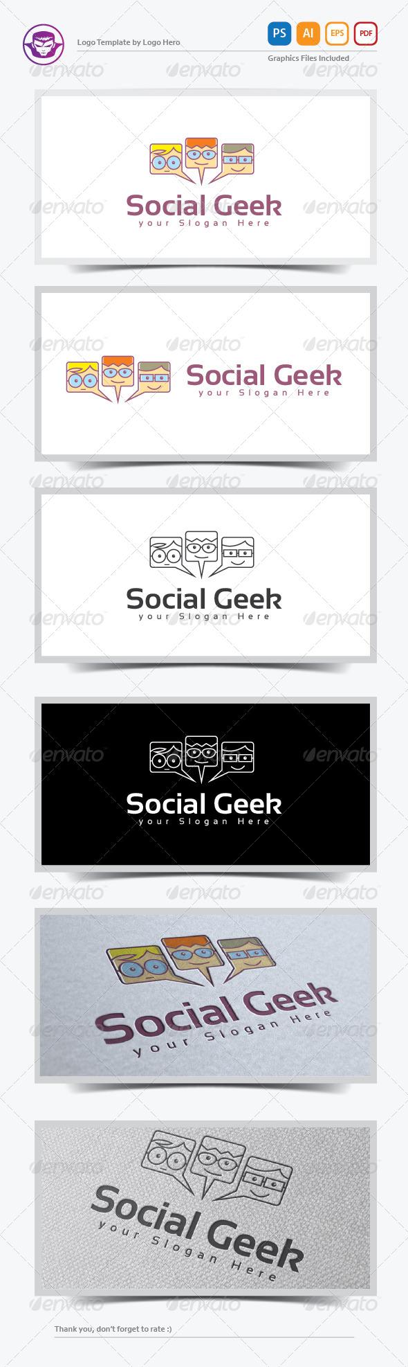 GraphicRiver Social Geek Logo Template 8234317