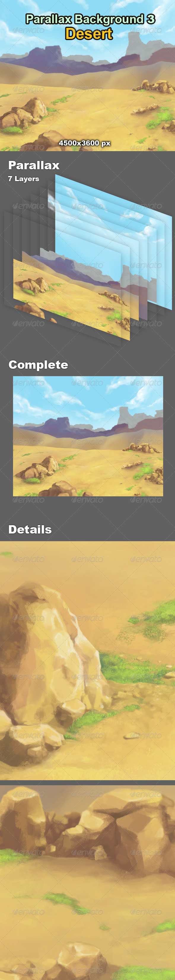 Parallax Background 3 Desert