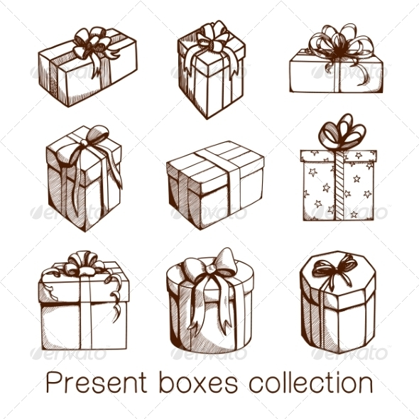 GraphicRiver Present Boxes Collection 8234383