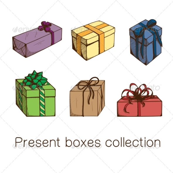 GraphicRiver Present Boxes Collection 8234384