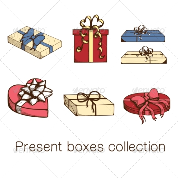 GraphicRiver Present Boxes Collection 8234385
