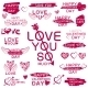 Decorative Texts for Love Confession. - GraphicRiver Item for Sale