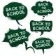 Vector Set of Grundge Green Bubbles - Back to School - GraphicRiver Item for Sale