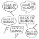 Vector Set of Sketch Bubbles - Back to School. - GraphicRiver Item for Sale