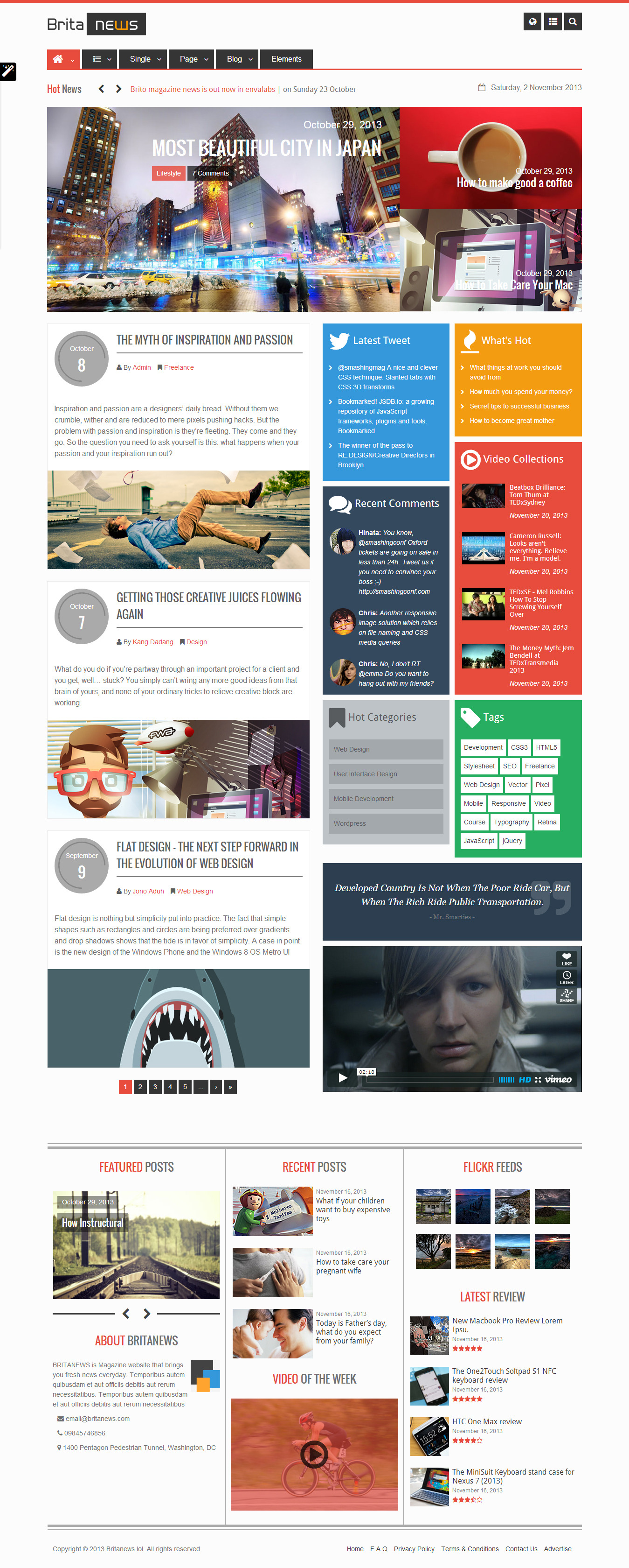 BritaNews - Gorgeous Animated News/Magazine Theme
