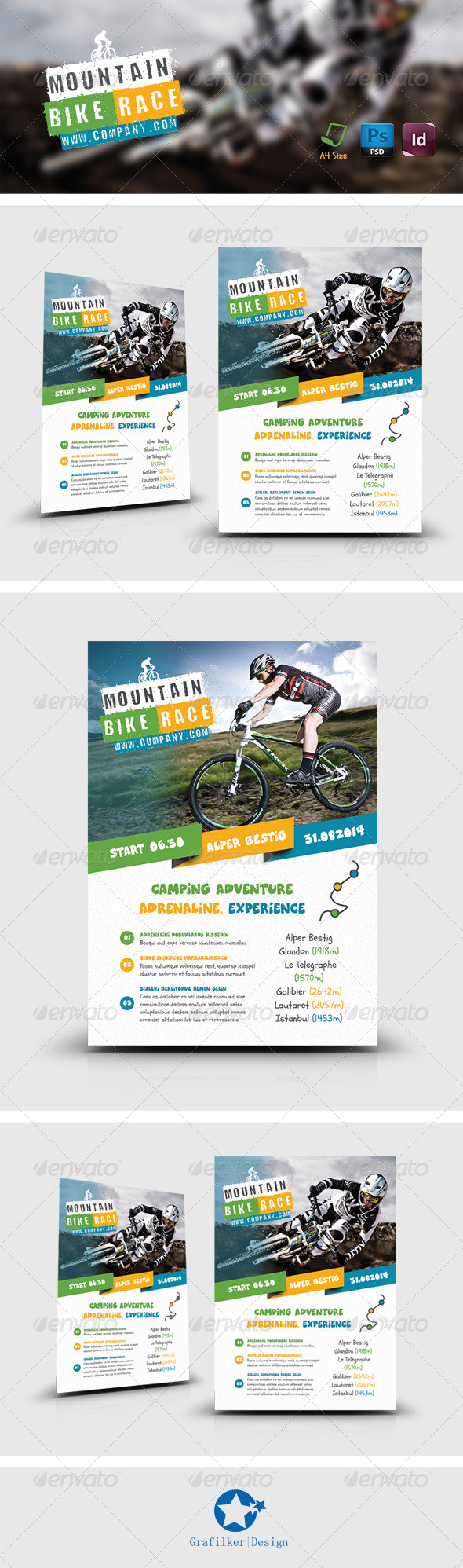 GraphicRiver Bicycle Racing Flyer Templates 8234511