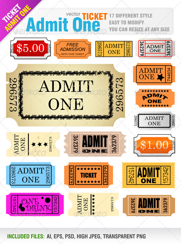 Graphic River Tickets Vectors -  Conceptual  Commercial / Shopping 842748