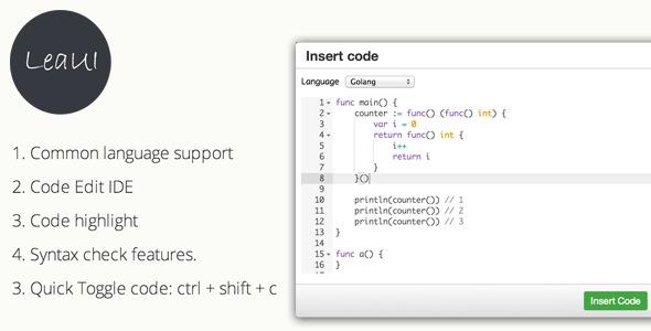 CodeCanyon TinyMCE4 Code Editor 8139791