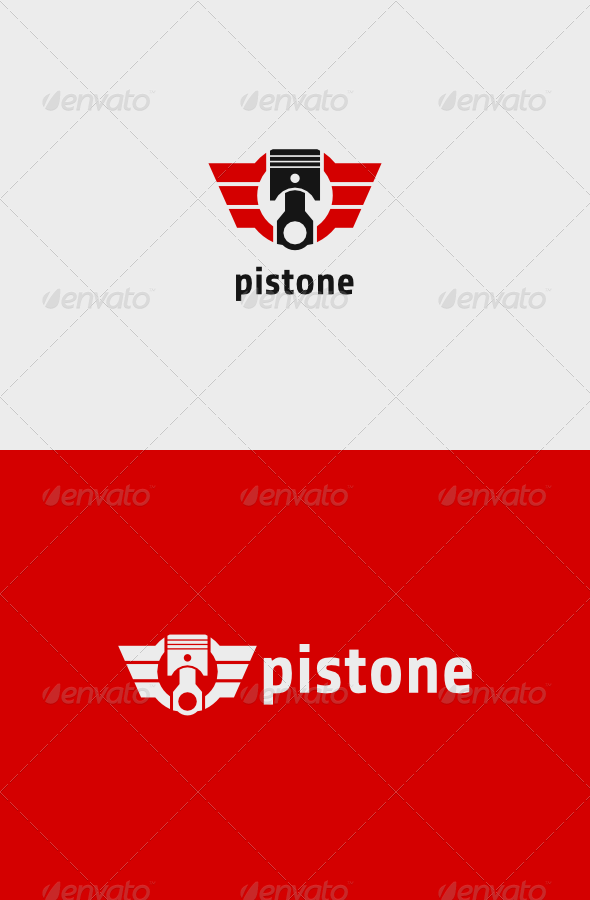 GraphicRiver Piston Wings Logo 8234574