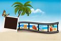 Vacation film tape on a beach.  - PhotoDune Item for Sale