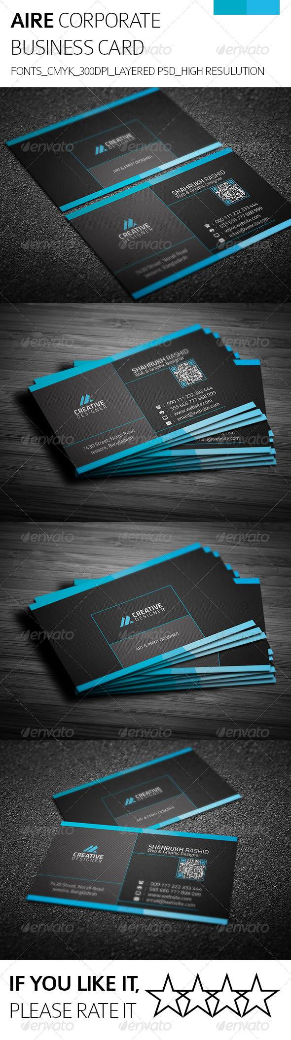 GraphicRiver Aire & Corporate Business Card 8225737