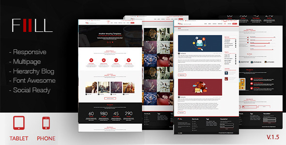ThemeForest Fill Adobe Muse Template 8178441
