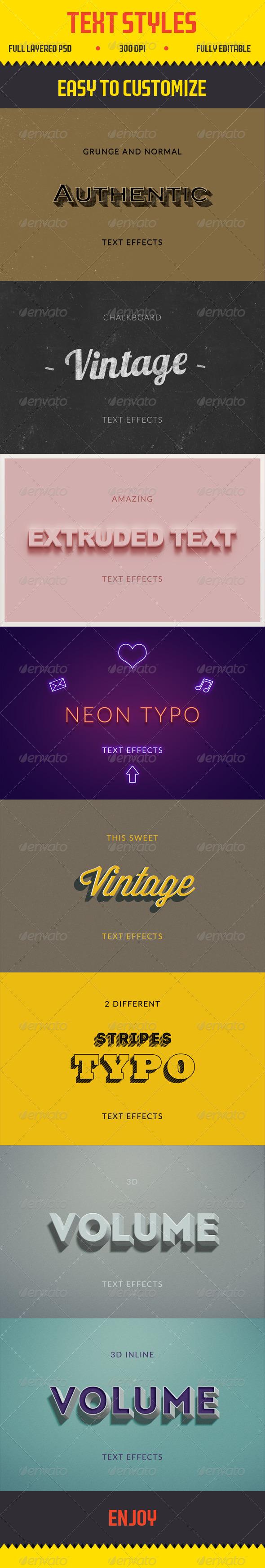 GraphicRiver Text Effects Vintage 3D Retro 8234611