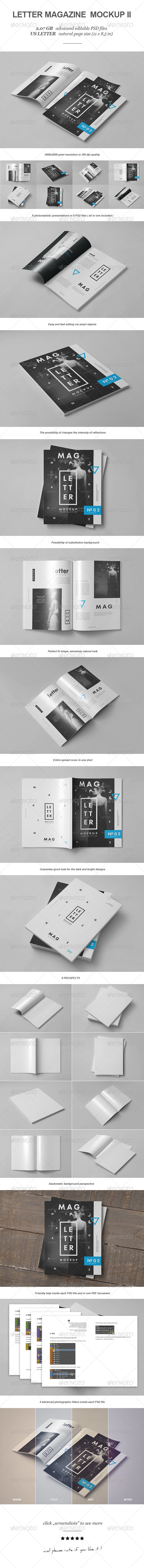 GraphicRiver Letter Magazine Brochure Mock-up II 8234615