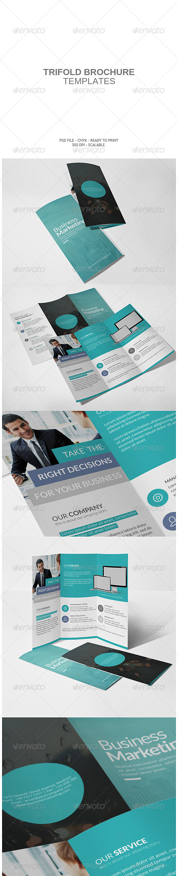 GraphicRiver Corporate Tri-fold Brochure 8234631