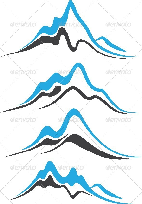 GraphicRiver Mountains with Steep Peaks Logo 8233371