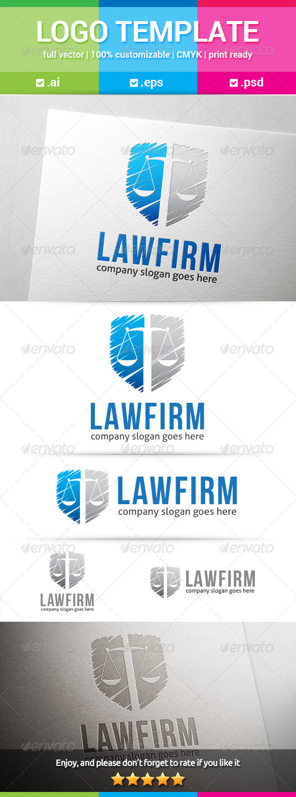 GraphicRiver Law Firm Logo 8237152