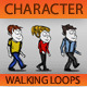 Cartoon Walk Sequence Pack - Casual - VideoHive Item for Sale