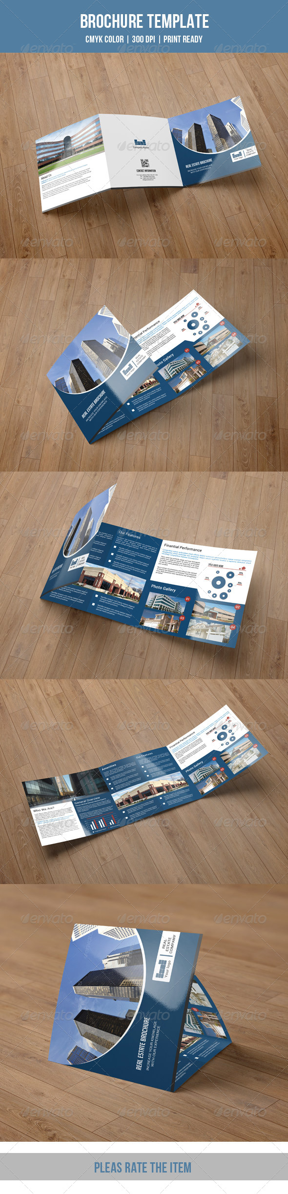 GraphicRiver Square Trifold Brochure-V11 8237757