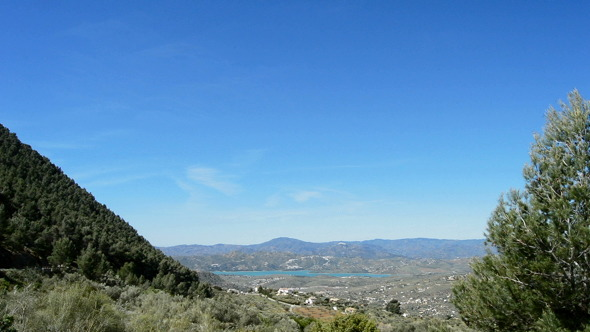 Landscape in Andalusia Spain