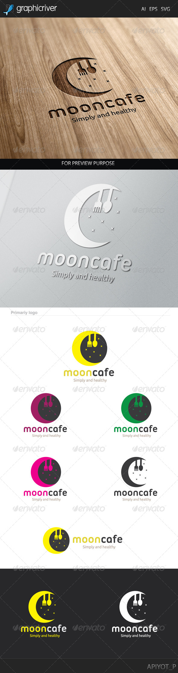 GraphicRiver Moon Cafe Logo 8238229