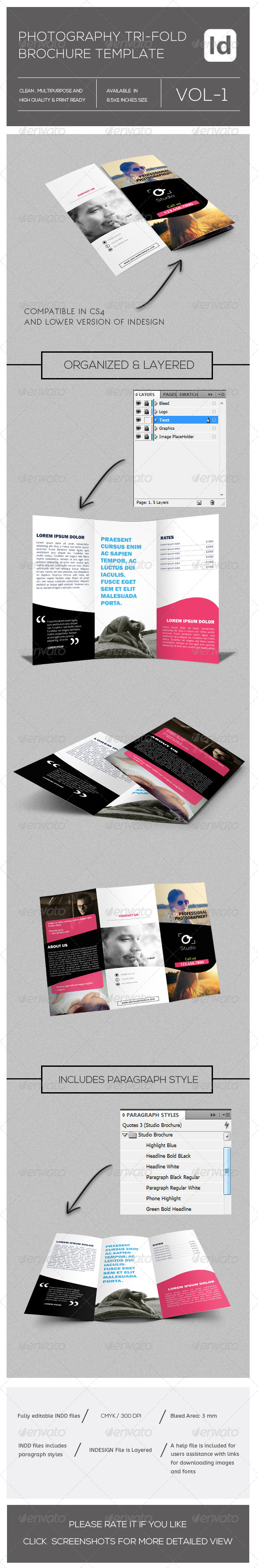 GraphicRiver Modern Photography Portfolio Tri-Fold Brochure 8183242