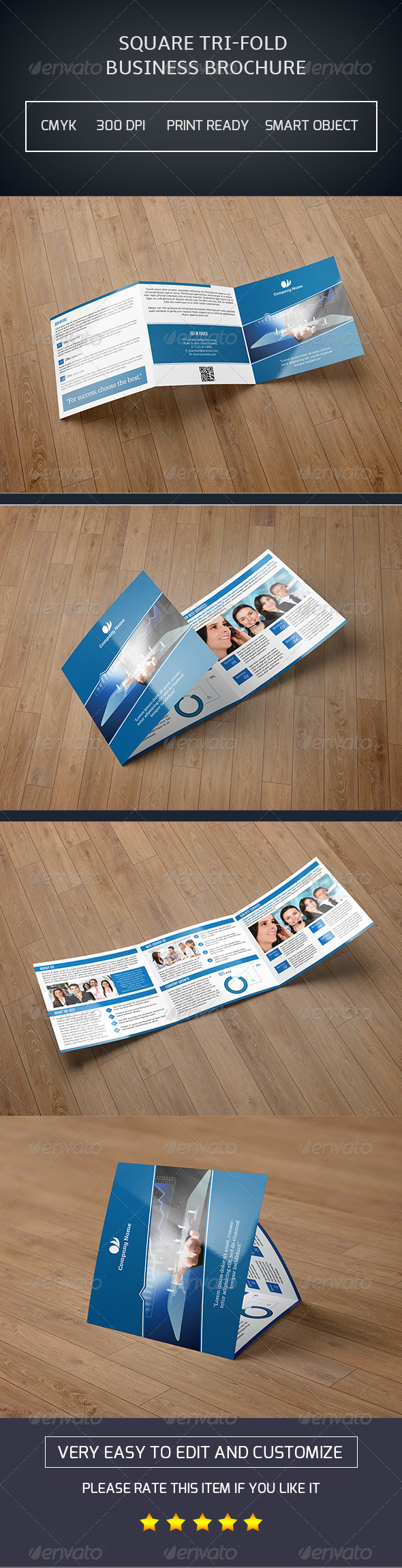 GraphicRiver Square Trifold Brochure-V12 8238240