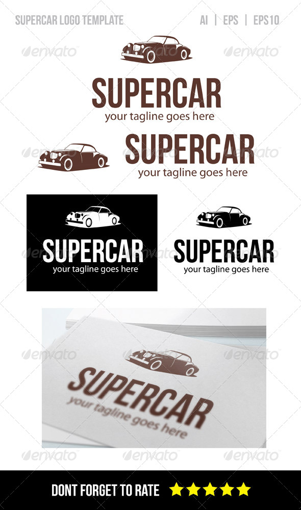 GraphicRiver Super Car Logo Template 8238257