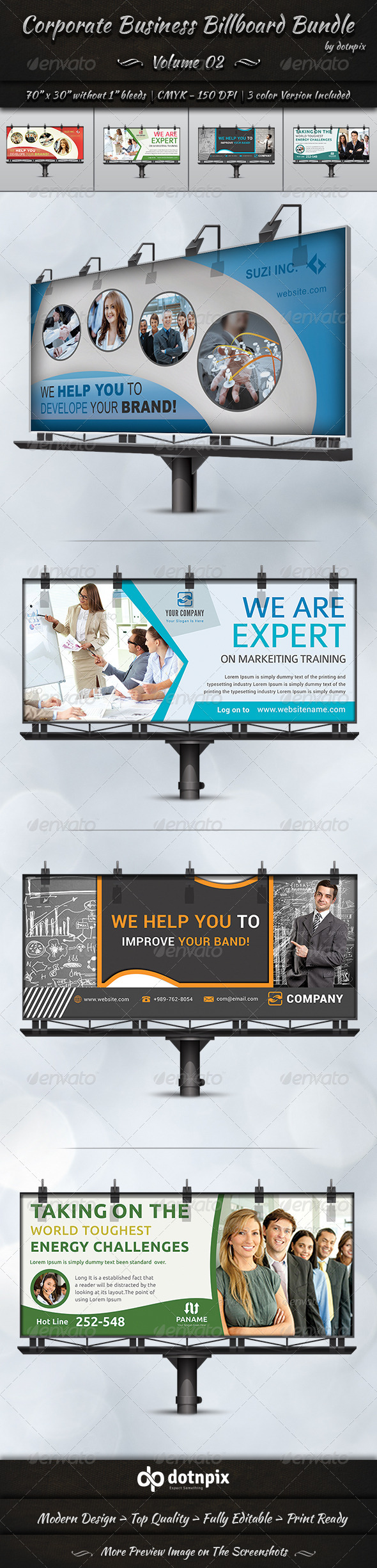 GraphicRiver Corporate Business Billboard Bundle Volume 2 8238312