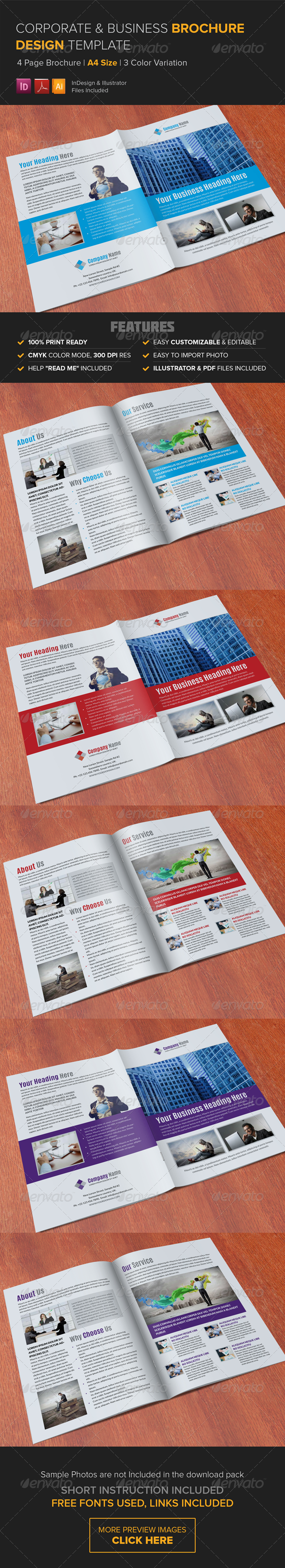 GraphicRiver Corporate Multipurpose Brochure Template 8238337