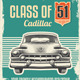 Vintage Retro Sign -  Cadillac Classic Car Poster