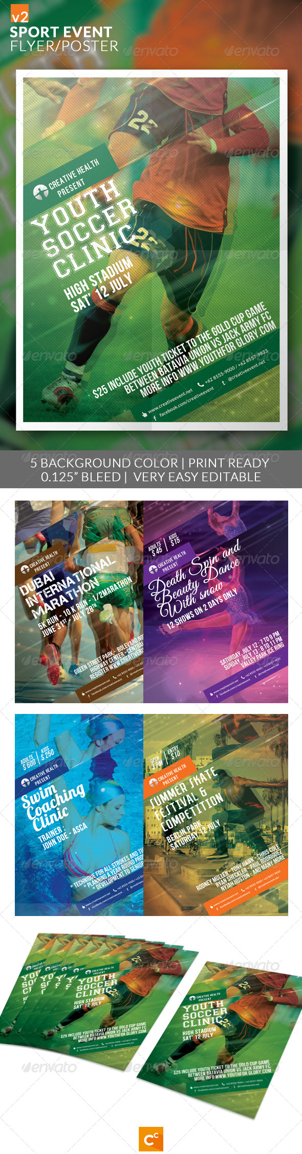 GraphicRiver Sport Event Flyer Poster v2 8238469