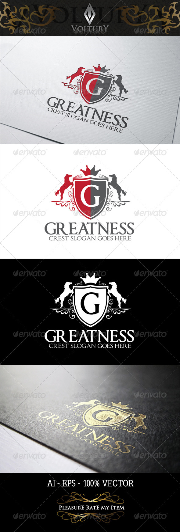 GraphicRiver Greatness Logo 8238765
