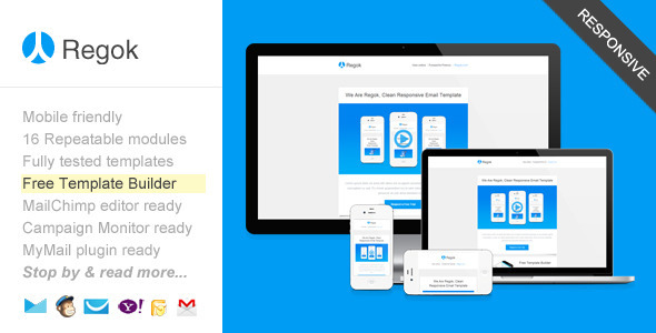 ThemeForest Regok Responsive Newsletter with Template Builder 8238995
