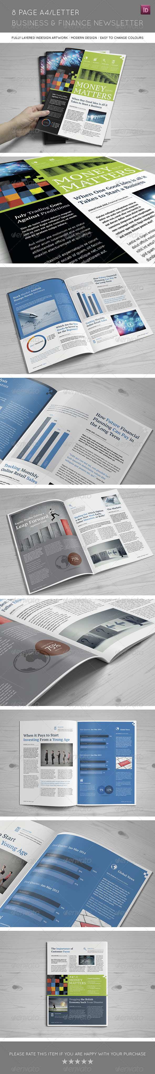 GraphicRiver 8 Page A4 Letter Business and Finance Newsletter 8239966