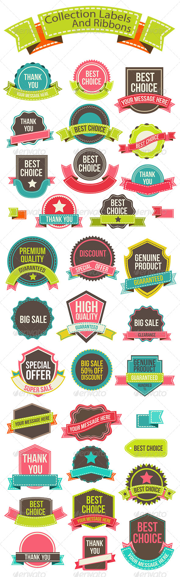 GraphicRiver Collection Labels and Ribbons 8240177