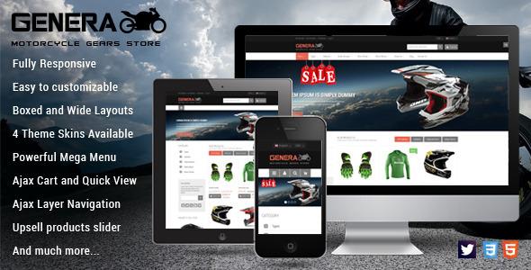Genera - Responsive Magento Sport Theme - Shopping Magento
