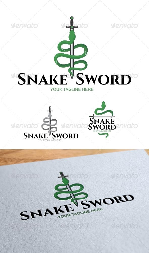 GraphicRiver Snake Sword Logo Template 8240312