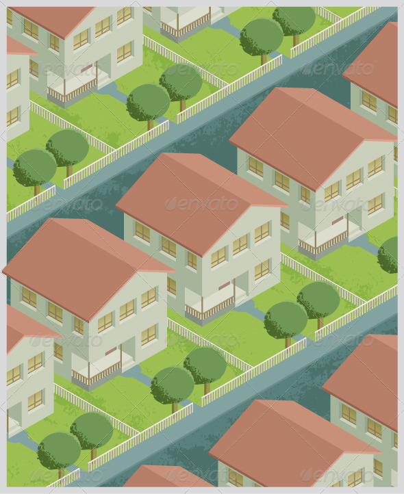 GraphicRiver Residential Neighborhood 8240325