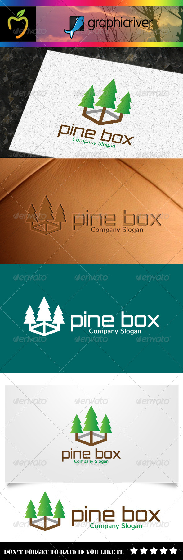 GraphicRiver Pine Box Logo 8240379