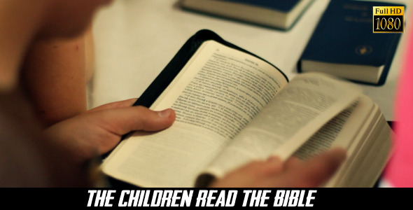 VideoHive The Children Read The Bible 8240420