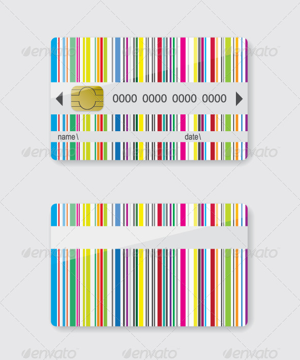 GraphicRiver Striped Credit Card 8240514