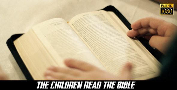 VideoHive The Children Read The Bible 7 8240531