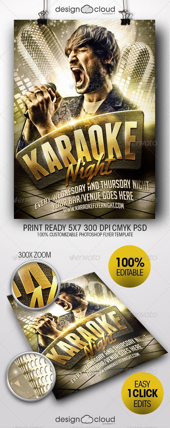 GraphicRiver Karaoke Night Flyer Template 8240534