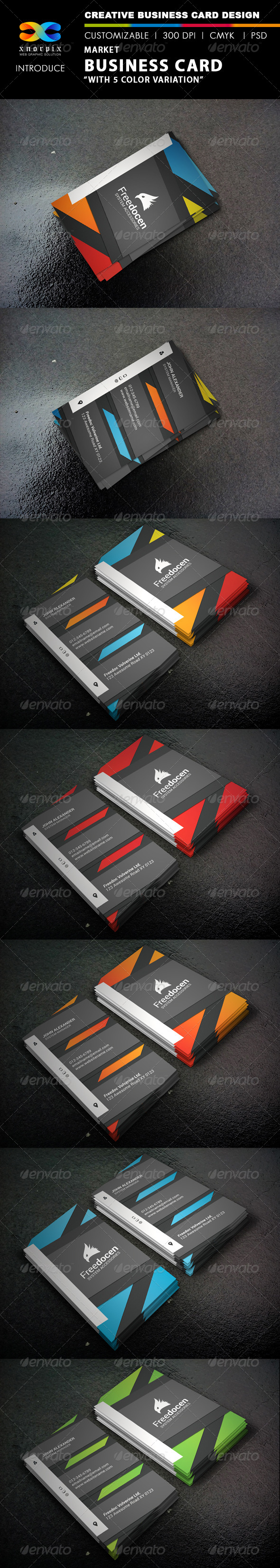 GraphicRiver Market Business Card 8240542