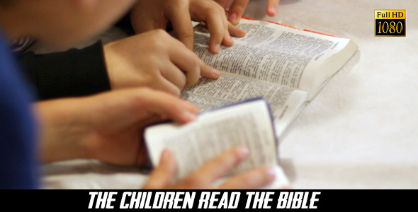 VideoHive The Children Read The Bible 9 8240558