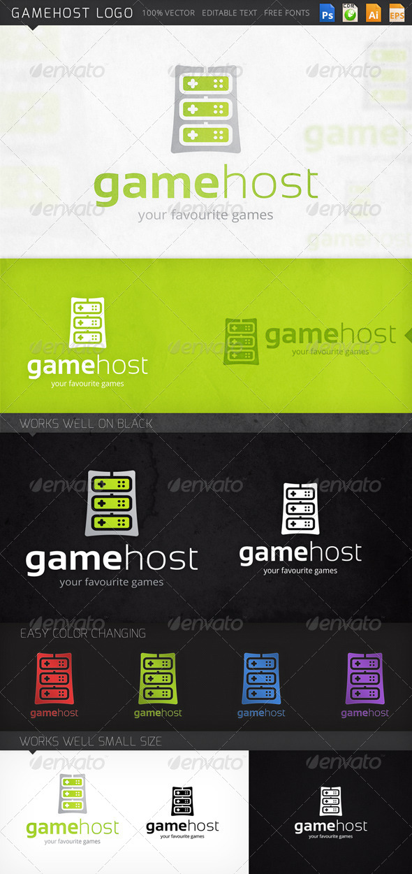 GraphicRiver Gamehost Logo 8240560