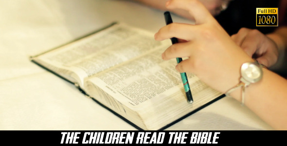 VideoHive The Children Read The Bible 3 8240564