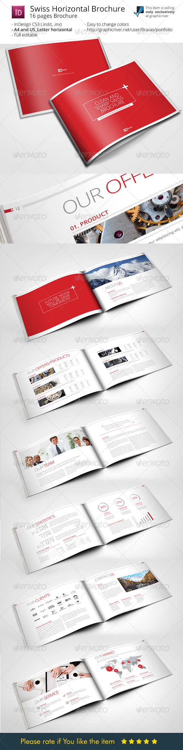 GraphicRiver Swiss Brochure Template 8240614