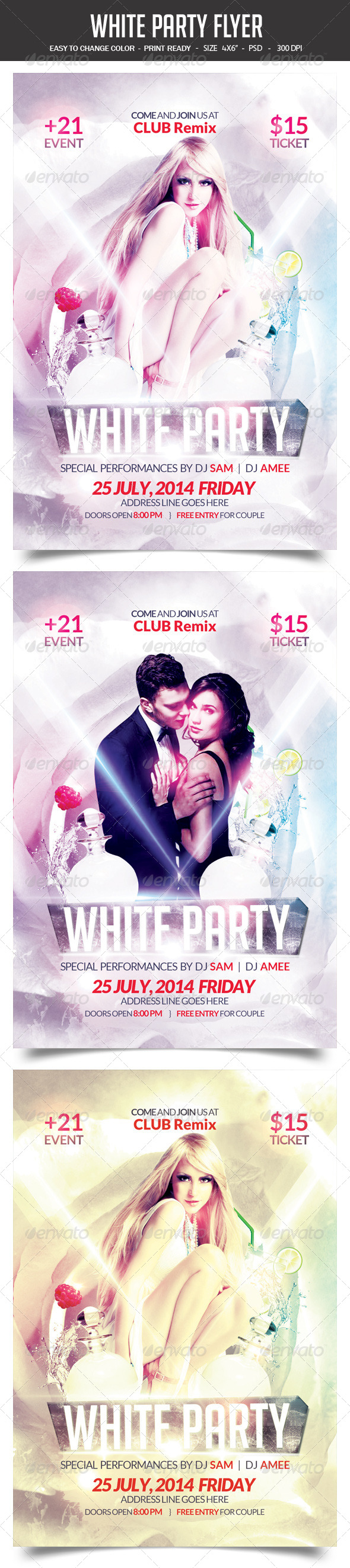 GraphicRiver White Party Flyer 8240624